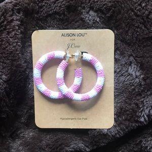 Alison Lou x J Crew Hoops